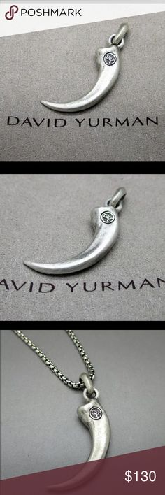 David Yurman Silver Wolf Claw Tag Amulet Pendant LADIAS & GENTLEMEN!  I WOULD LIKE TO PRESENT YOU  David Yurman 925 Sterling Silver Men's Petrvs Wolf Claw Tag Amulet Pendant   Description:  FROM DAVID YURMAN TAG AMULET COLLECTION  Jewelry Type: PENDANT  Condition: Pre-Owned (Excellent! Look Like New!)  Metal: 925 Sterling Silver  25 mm x 17 mm approx.  Hallmarked: DY 925    Chain NOT INCLUDING!   Comes with DY Pouch. David Yurman Accessories Jewelry