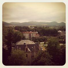 The beautiful view from my window in Vitoria-Gasteiz
