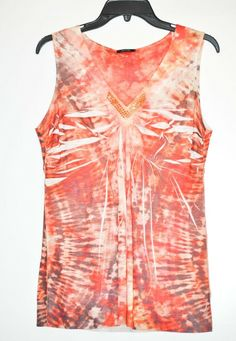 d216ab874019 Apt. 9 Women s Top Blouse Paisley Orange size M NEW  Apt9  Blouse  Casual
