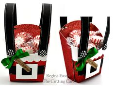 Santa Suspenders Fry Box by cutups - Cards and Paper Crafts at Splitcoaststampers