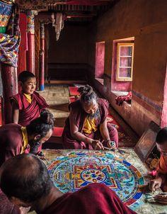 Photograph Making a Mandala #2 by neeraj chaturvedi on 500px