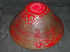 RARE Mid Century Modern Hanova of Pasadena Brutalist Enamel Serving Bowl Lava   eBay