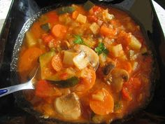 potaje de verduras, receta para dietas. Cocina tradicional.