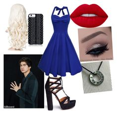 """""""prom with calum"""" by soslover90 ❤ liked on Polyvore featuring Lime Crime, Aquazzura and Savannah Hayes"""