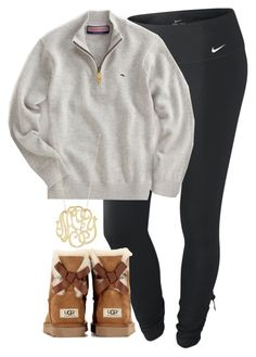 """{}"" by whitegirlsets ❤ liked on Polyvore featuring NIKE, Vineyard Vines, UGG Australia, women's clothing, women, female, woman, misses and juniors"