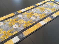 Coffee Table Runner, Table Runner And Placemats, Table Runner Pattern, Quilted Table Runners, Table Topper Patterns, Quilted Table Toppers, Placemat Patterns, Quilt Patterns, Yellow Table