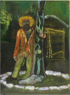 Peter Doig,Metropolitan (Stag),2004. Oil on canvas. 23 x 17 in (58.5 x 43 cm). Estimate £500,000-800,000. This work is offered in the Post-War and Contemporary Art Evening Auction on 7 March at Christie's London