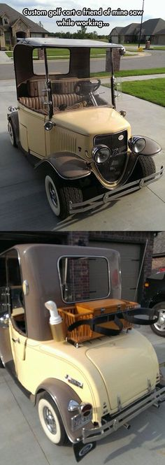 An Amazing Customized Golf Cart. not really a car but here since it looks like it.