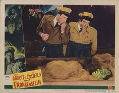 Lobby Card from the film Bud Abbott And Lou Costello Meet Frankenstein