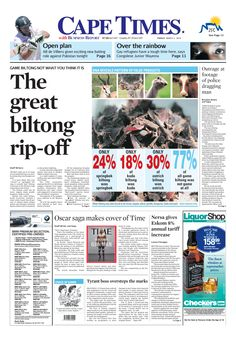News making headlines:  The great biltong rip-off