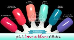 Gelish Love in Bloom Collection Swatches and Review
