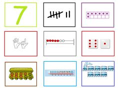Cijferkaart 7: Met deze cijferkaarten kun je veel rekenactiviteiten doen in de groep. Ze kunnen heel goed gebruikt worden bij de digibordles: http://digibordonderbouw.nl/index.php/lessen/rekenen/telenzoek112