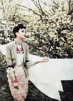 """Han Eu Deum in """"Sunny Wash Day"""" for Vogue Korea May 2012 photographed by Hong Jang Hyun and styled by Son Eun Young"""