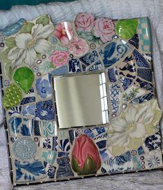 Roses and Dogwood Mosaic by Lisabetzmosaicart on Etsy
