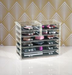Fed up with rummaging for your favourite bangle, the perfect eye shadow or your treasured lip balm? Arrange your jewellery and makeup so it's always at the ready with the clever Howards Allure Deluxe Drawer Chest. Available from Howards Storage.