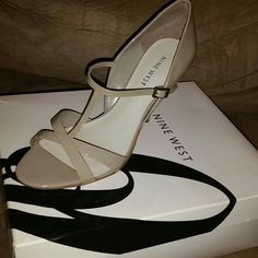 Nine West light grey patent leather heels Nine West light grey patent leather heels.  Practically brand new only worn once. Nine West Shoes Heels