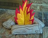 little felt campfire for pretend play or nursery decor