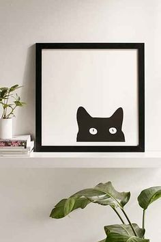 Shannon Lee Black Cat Art Print - Urban Outfitters