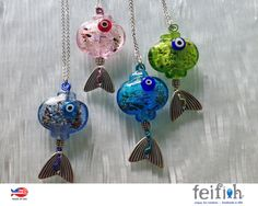 Glass Fish. Evil Eye Fish. Cute fish. lampwork Glass by feifish