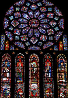 Chartres Cathedral window - portal into the Catholic Mystery ... http://corjesusacratissimum.org/2012/04/portals-into-the-catholic-mystery-a-very-personal-hello-again/