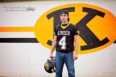 Senior Portrait Photography #PhotographybyHailey #seniorboy #footballplayer #footballfield #seniorpictures #statechamps