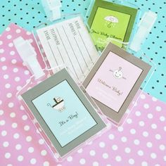 5ed965748b3e90 Baby Shower Acrylic Luggage Tags Personalized Baby Shower Favors
