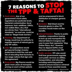 #TPP #TAFTA