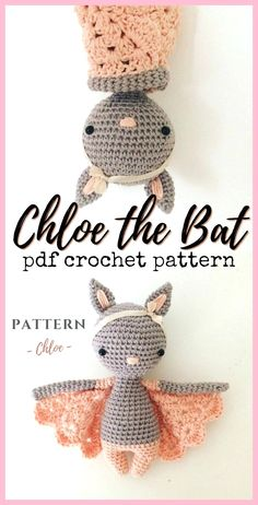 Crochet Patterns What an adorable little crocheted bat amigurumi pattern! I love how sweet this l Crochet Patterns What an adorable little crocheted bat amigurumi pattern! I love how sweet this l… Crochet Patterns What an adorable little crocheted b Crochet Diy, Crochet Pattern Free, Crochet Simple, Crochet Patterns Amigurumi, Crochet Crafts, Crochet Dolls, Yarn Crafts, Crochet Ideas, Crochet Afghans