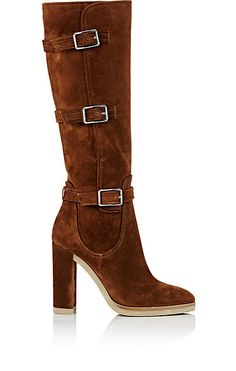 Gianvito Rossi Stormer Suede Knee Boots - Boots - 504668630 (affiliate)  Brown High Heel 6e6378acfa