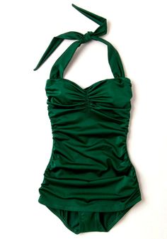 53c621e094 Stylish Swimsuits Vintage Bathing Suits, Vintage Style Swimsuit, Green One  Piece Swimsuit, Bathing