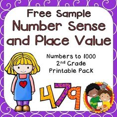 This is a free sample of my   Number Sense and Place Value Printable Pack for 2nd Grade.Are you looking for a lot of place value and number sense resources? Save money by purchasing this  bundle.Topics include: odd & even, place value, skip counting, number forms and comparing numbers.