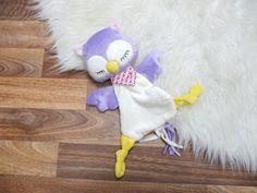 Nähanleitungen Baby - ebook Schnuffeltuch Eule Lina - ein Designerstück von monsta-bella bei DaWanda