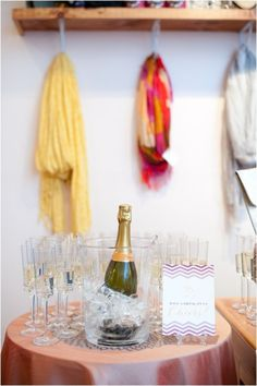 chevron signs and champagne!    Photography by suzannamarchphotography.com