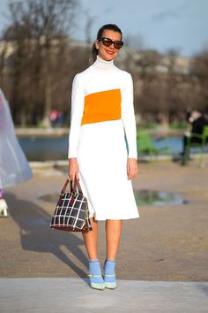 Natalie Joos in J. W. Anderson / Fashion Street Paris Fashion Week Fall 2014.