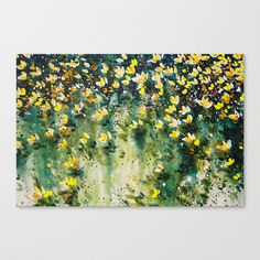field of wildflowers Canvas Print by denise comeau painter printmaker - MEDIUM Canvas Prints, Art Prints, Wildflowers, Printmaking, Stretched Canvas, Canvases, Crafts, Painting, Medium