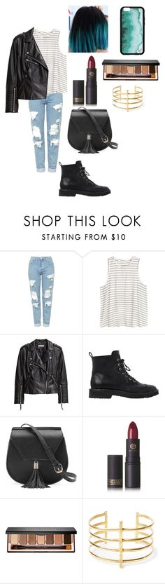 """""""niki demartino inspired outfit"""" by fashionblogger2122 on Polyvore featuring Topshop, H&M, Giuseppe Zanotti, Yoki, Lipstick Queen, Bobbi Brown Cosmetics and BauXo"""