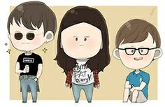Finn, Rae and Archie from My Mad Fat Diary by Jong Parksin