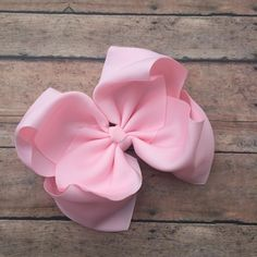 eee340928626 Bows by Bowtiful Blessings · Light Pink Hair Bow - Big Bow - 6in Hair Bow -  Pink Bow - Basic