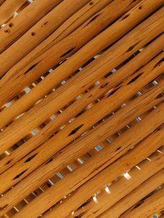 Wooden design details at Omaanda