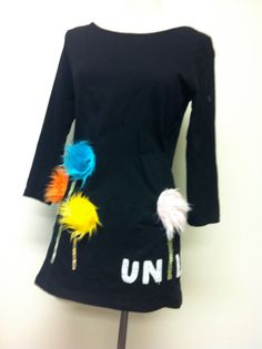 "Dr Seuss  Inspired ""Unless""  women's tunic length Truffula Trees boutique top on Etsy, Sold"