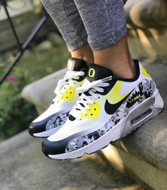"""best loved ab8c2 824a2 Airmaxalways on Instagram  """"Nike Airmax 90 x Unknown • Shoutout to   sheshoe game on this awesome pair of 90s! 💥 • Use  airmaxalways 👣"""". Custom  ShoesCustom ..."""