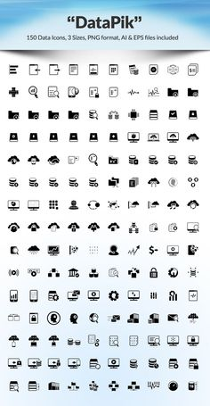 150 Free Data Work Icons