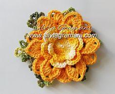 Silvia Gramani Crochê: Passo a Passo Flor de Crochê em Barbante - Flor Melissa - Primeira Parte