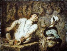 Honoré Daumier - The Butcher, Montmartre Market