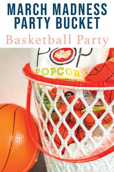 Share the fun with friends and family this Final Four season with a fun March Madness Party Basket from Everyday Party Magazine #MarchMadness #CollegeHoops #Basketball