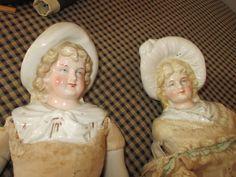 Необычное Античная Европейский Bonnet Глава Куклы