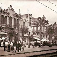 Rambla en los años 50. Foto Judit Juan #badalona #barcelona #ramblabdn