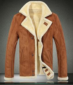 2014-Mens-leather-fur-collar-fur-lining-thick-suede-jacket-coat-outwear-trench