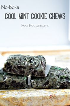 No-Bake Cool Mint Cookie Chews |Real Housemoms