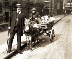A gentleman - one P L Hamlin - poses with a rag and bone man in London - 1 October 1920